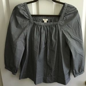 Jcrew small gingham top like new